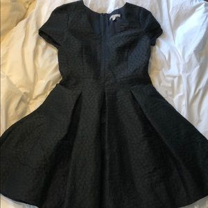 Banana Republic black jacquard a-line dress